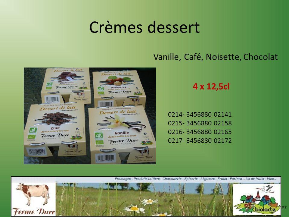 Vanille, Café, Noisette, Chocolat