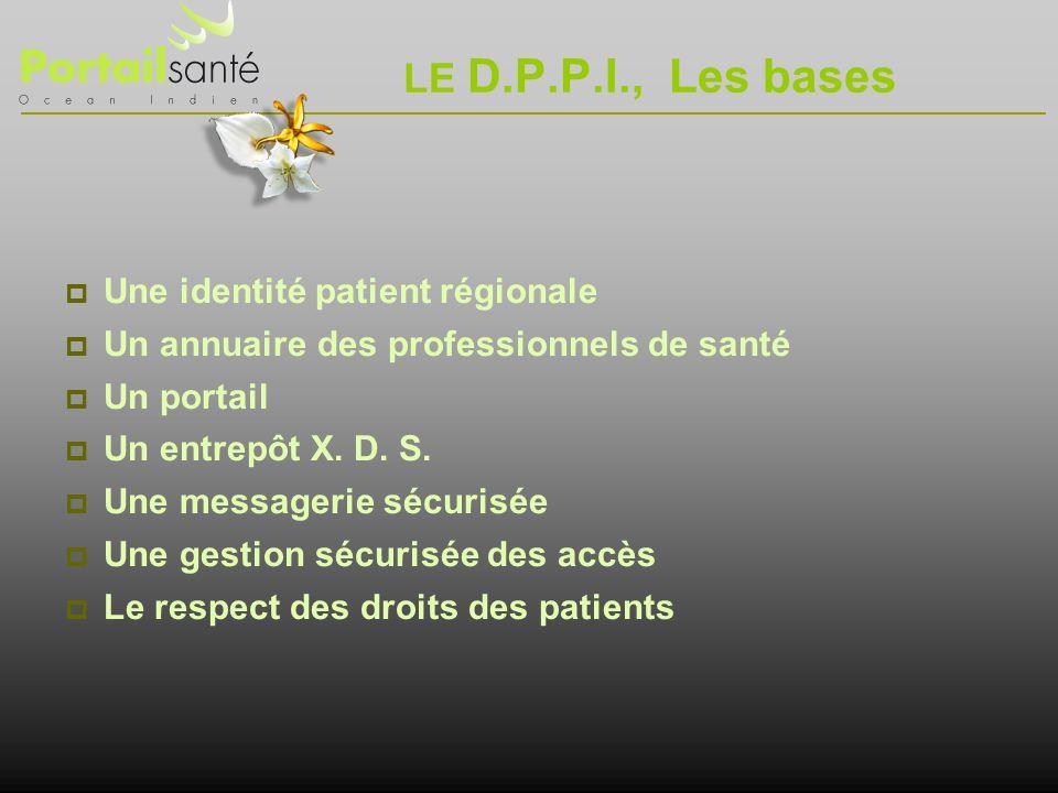 LE D.P.P.I., Les bases Une identité patient régionale