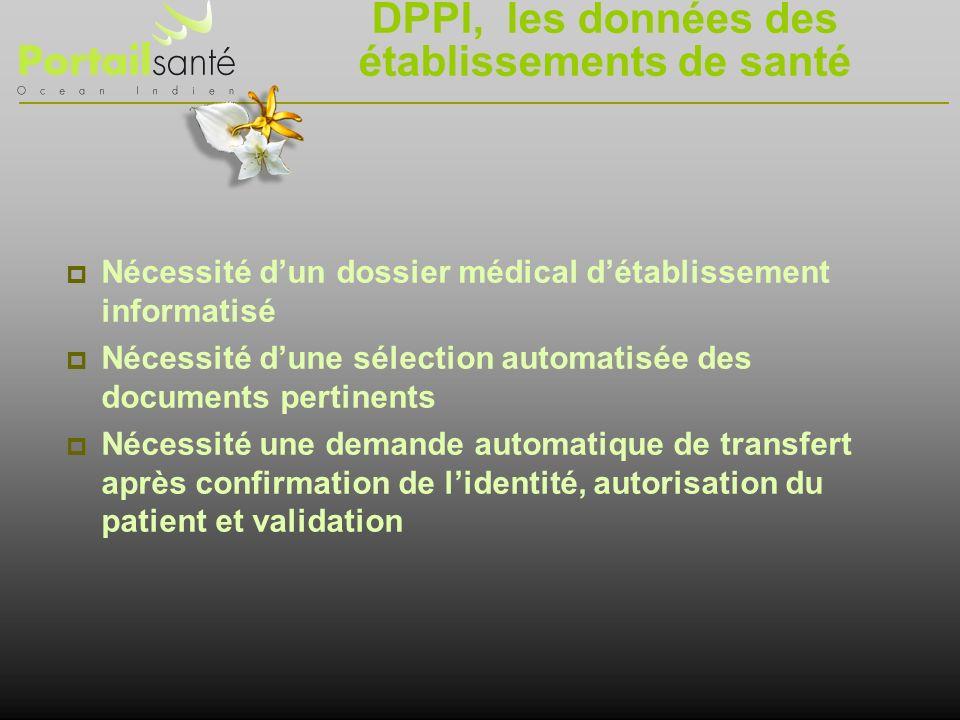 DPPI, les données des établissements de santé
