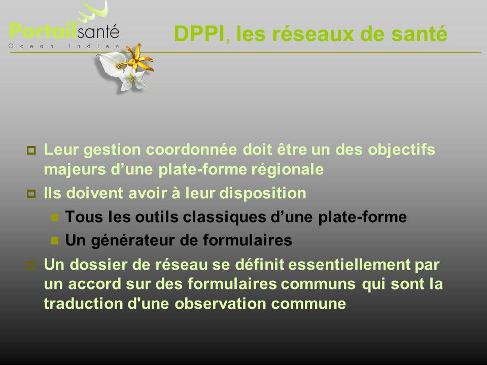 DPPI, les réseaux de santé