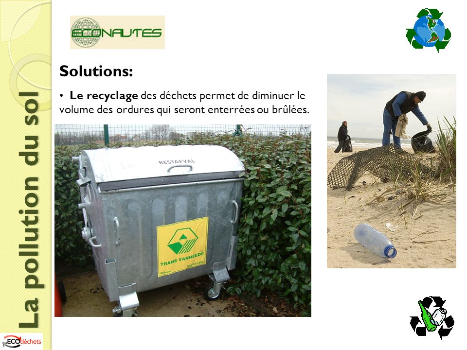 La pollution du sol Solutions:
