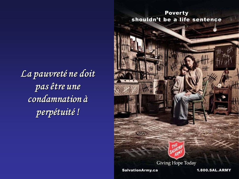 La pauvreté ne doit pas être une condamnation à perpétuité !