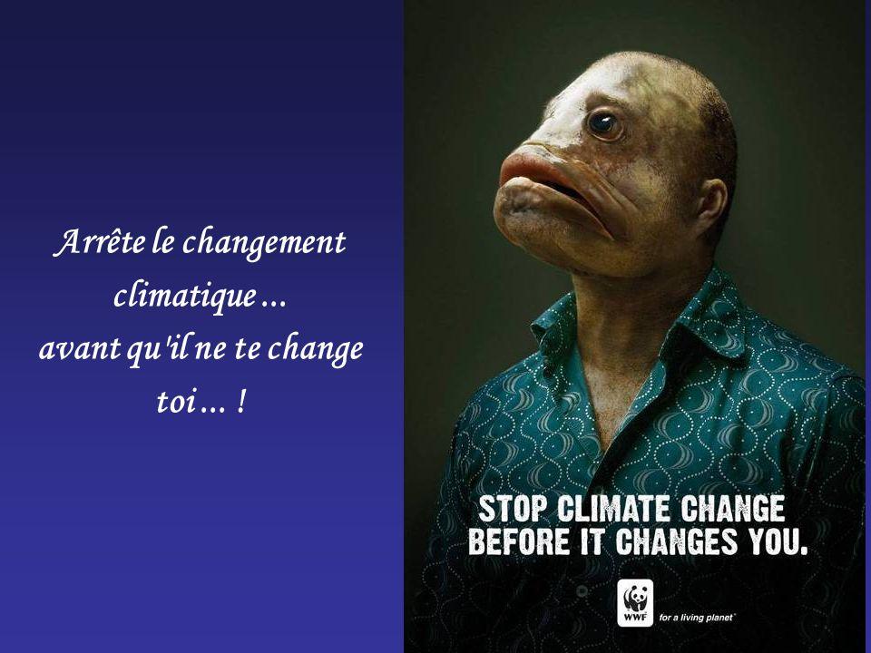 Arrête le changement climatique ... avant qu il ne te change toi ... !