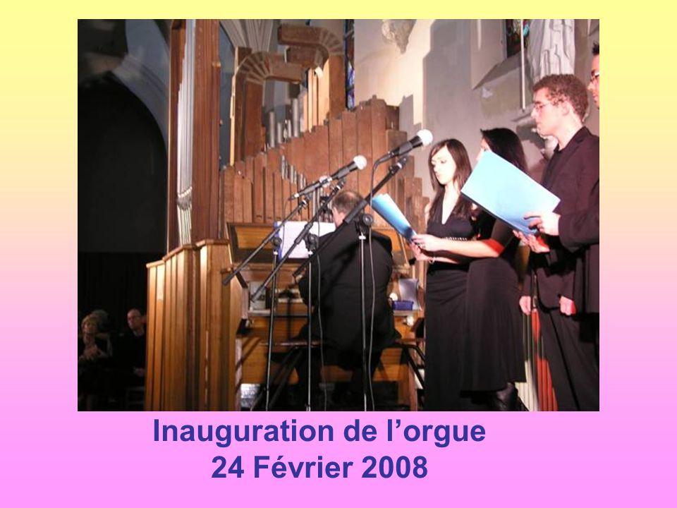 Inauguration de l'orgue