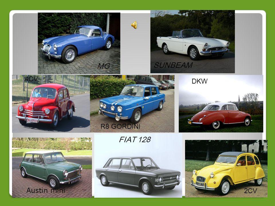 MG SUNBEAM FIAT 128 4CV Fiat 600 DKW Fiat 128 R8 GORDINI Austin mini