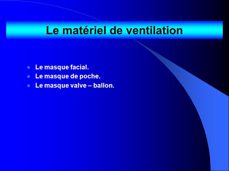 Le matériel de ventilation
