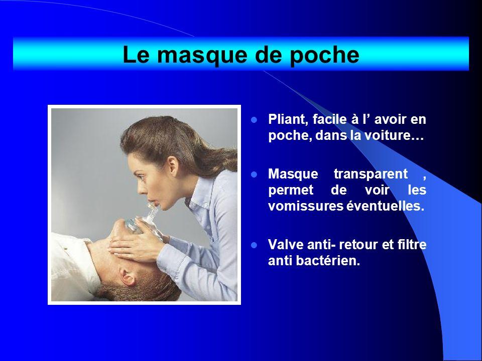 Le masque de poche Pliant, facile à l' avoir en poche, dans la voiture… Masque transparent , permet de voir les vomissures éventuelles.