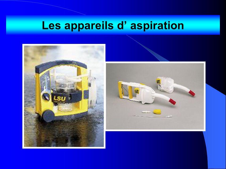 Les appareils d' aspiration