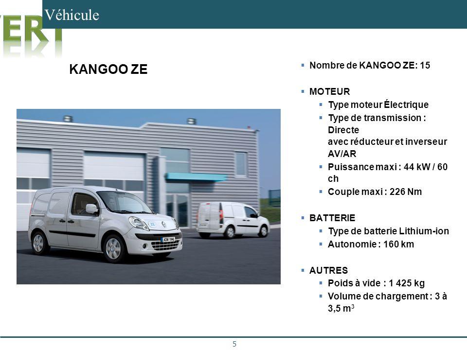 Véhicule KANGOO ZE 15 Kangoo ZE Nombre de KANGOO ZE: 15 MOTEUR