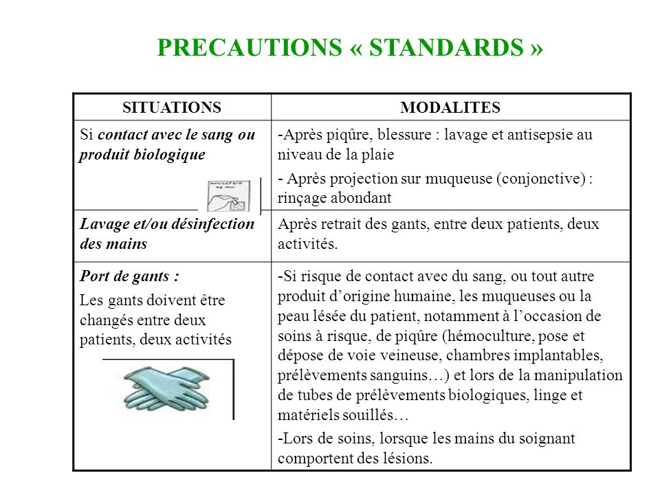 Les pr cautions standards ppt t l charger - Prelevement sanguin sur chambre implantable ...