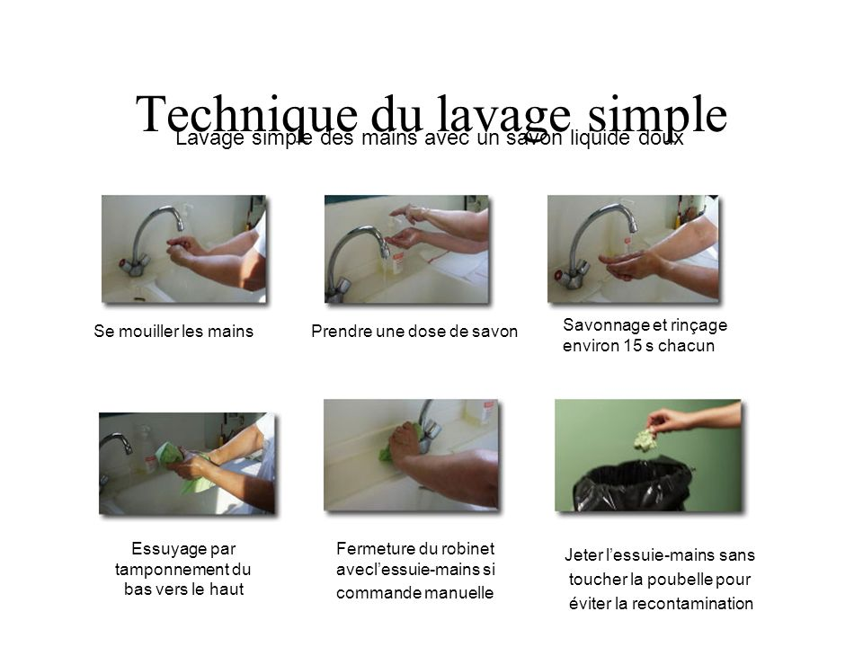 Technique du lavage simple