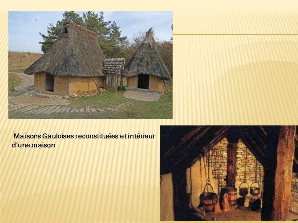 Maisons Gauloises reconstituées et intérieur d une maison