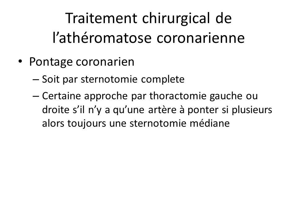 Traitement chirurgical de l'athéromatose coronarienne