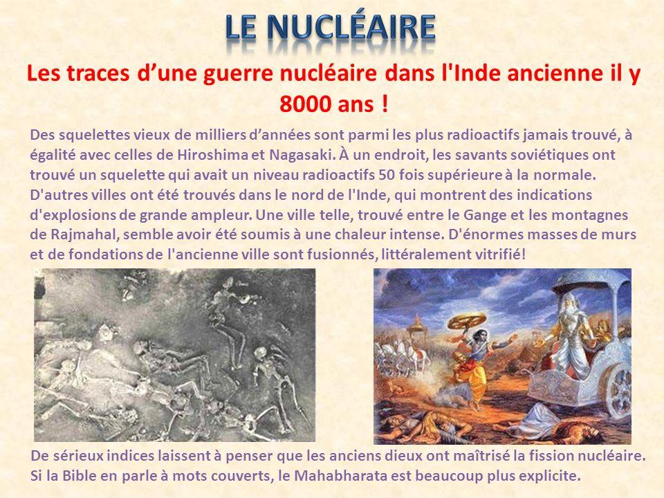 Les traces d'une guerre nucléaire dans l Inde ancienne il y 8000 ans !