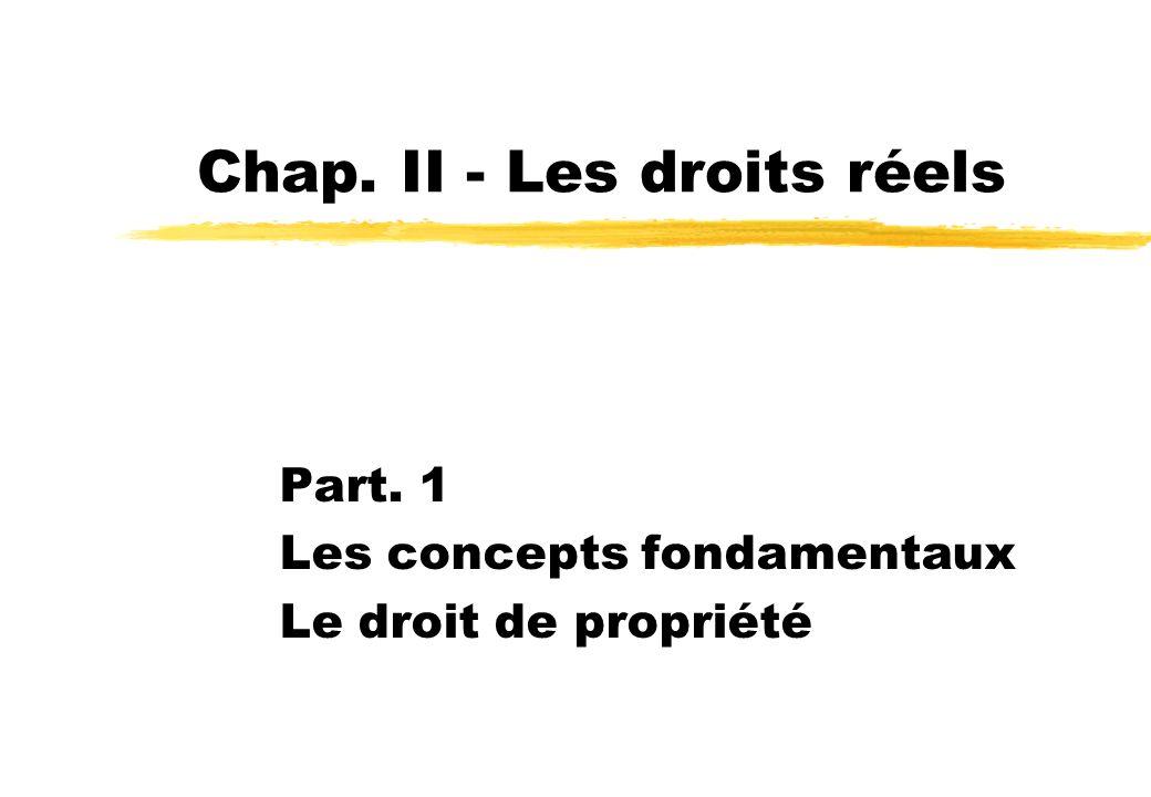 Chap. II - Les droits réels
