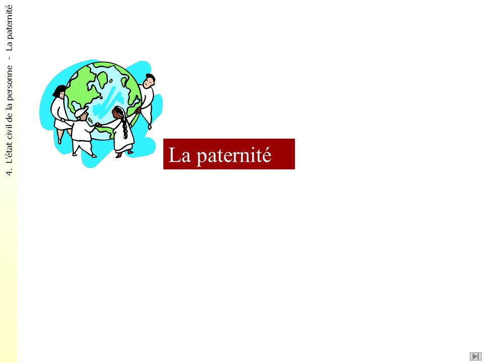 La paternité 4. L'état civil de la personne - La paternité