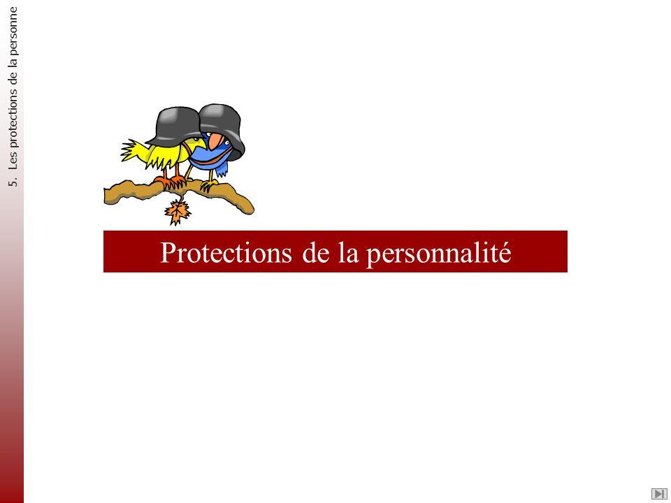 Protections de la personnalité