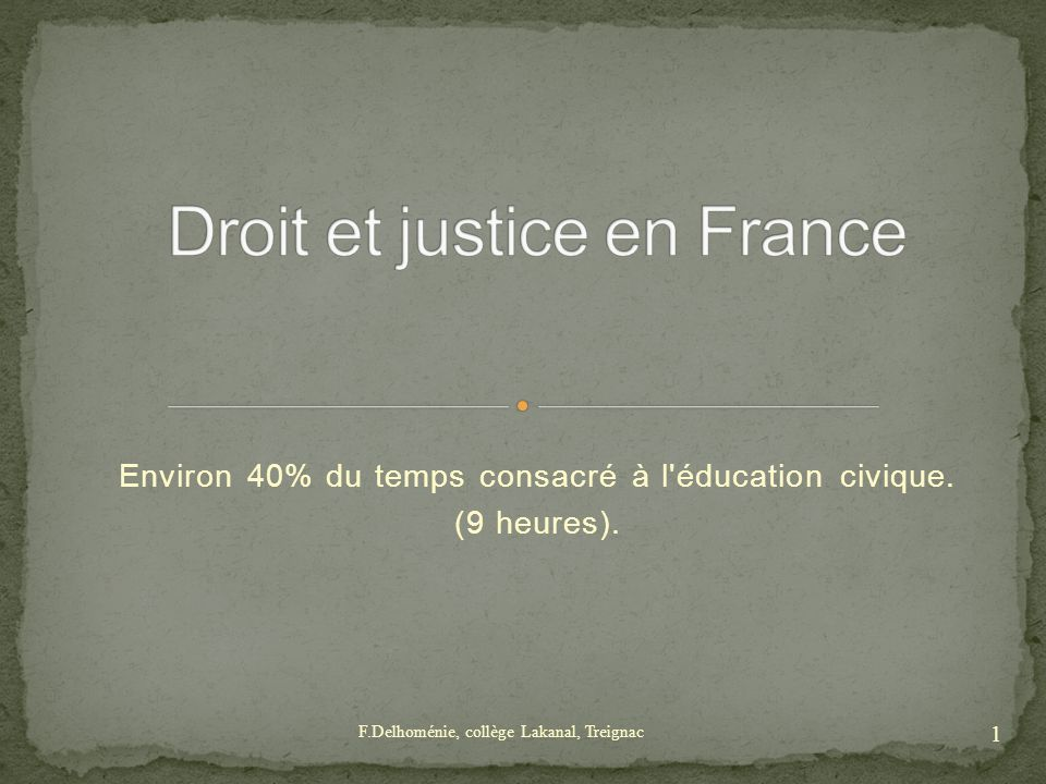 Droit et justice en France