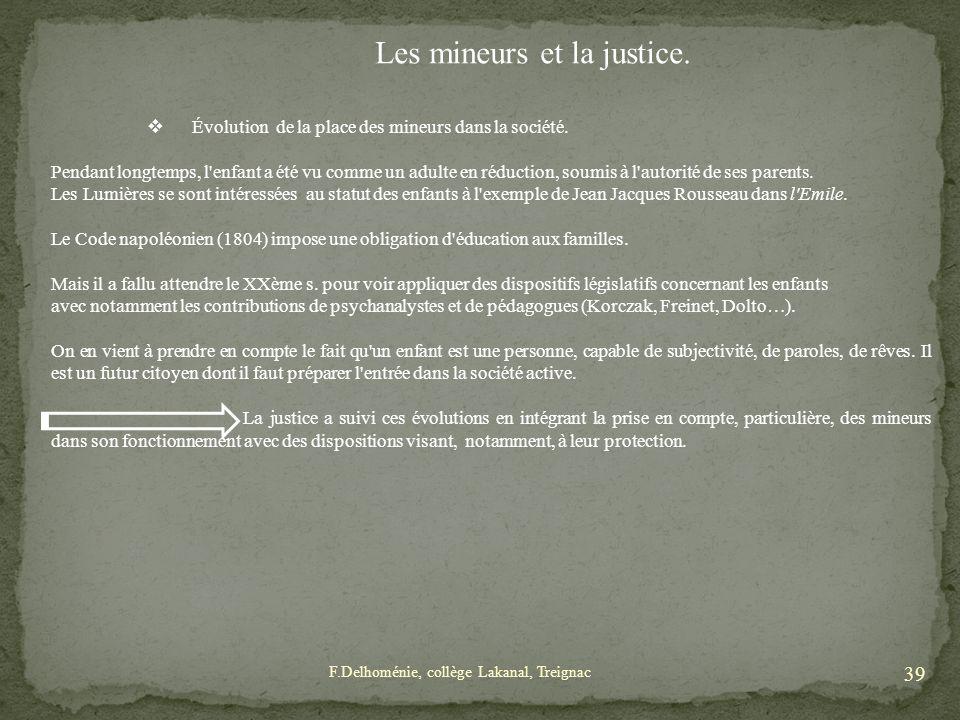 Les mineurs et la justice.