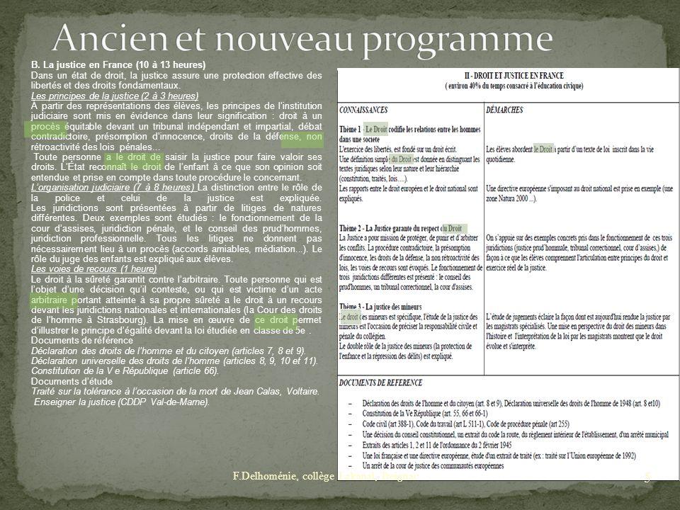Ancien et nouveau programme