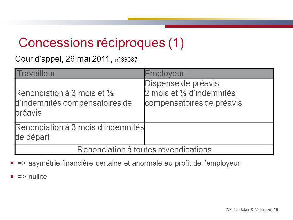 Concessions réciproques (1)