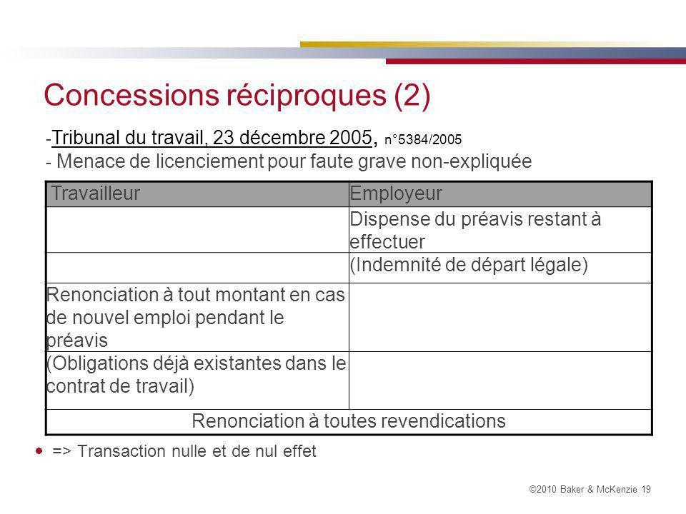 Concessions réciproques (2)