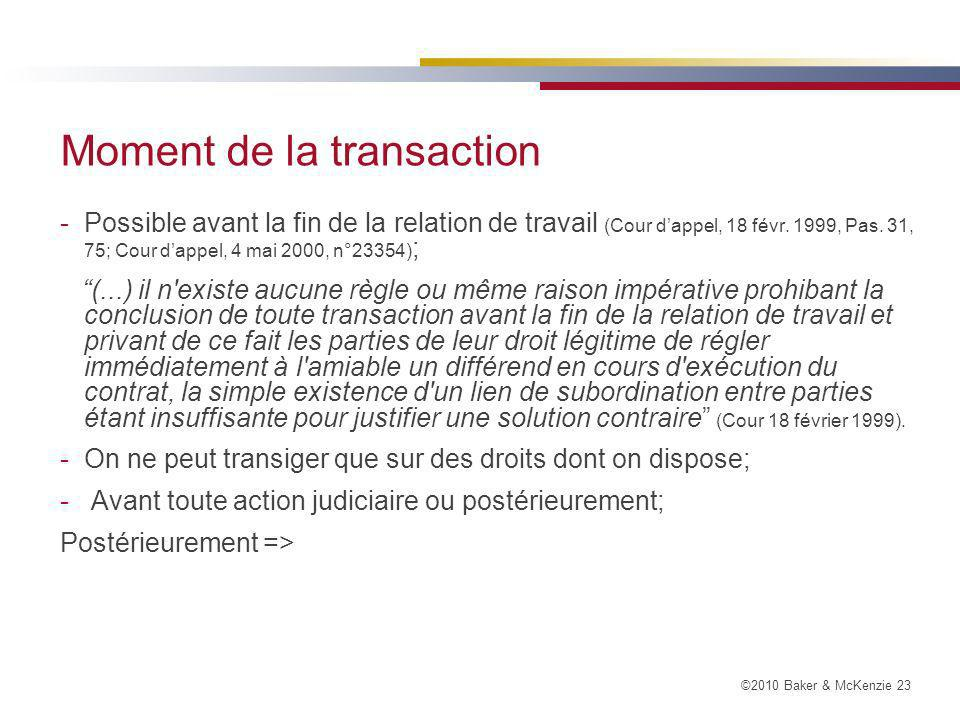 Moment de la transaction