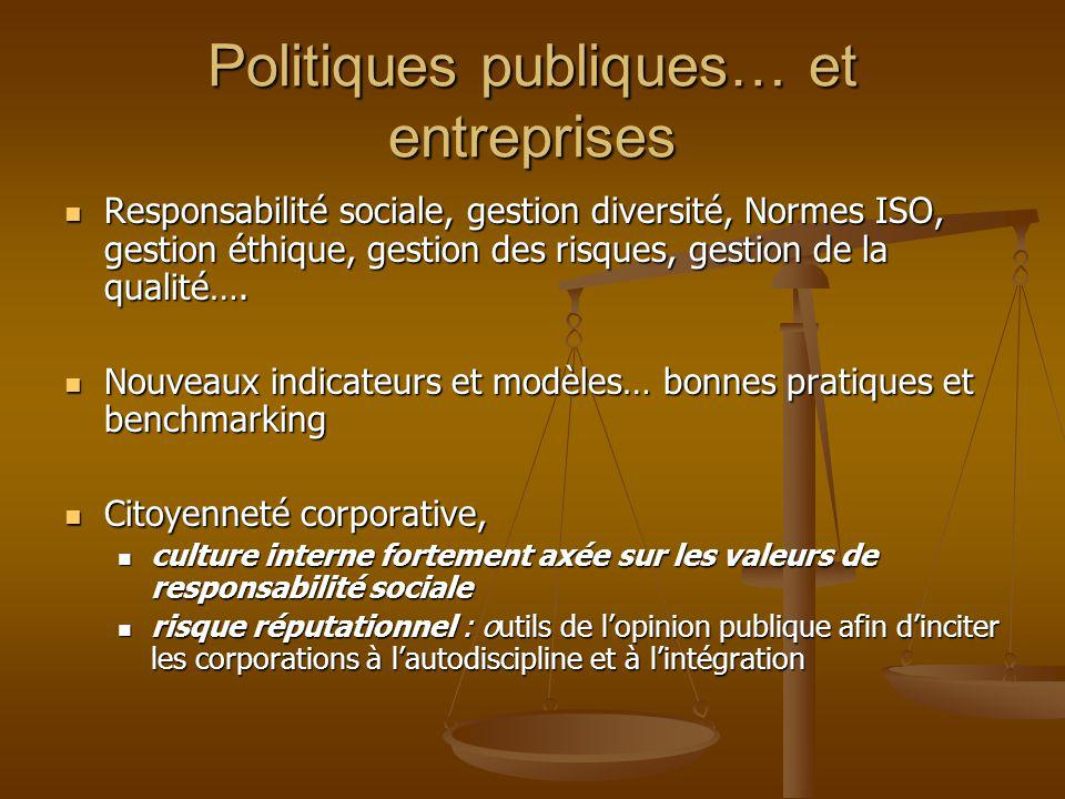 Politiques publiques… et entreprises