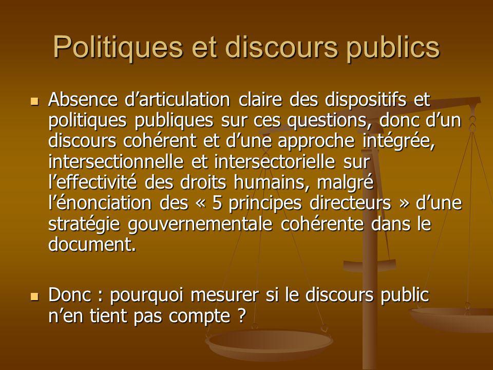 Politiques et discours publics
