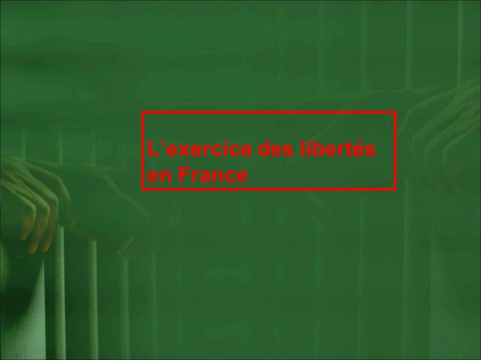 L'exercice des libertés en France