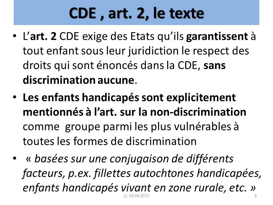CDE , art. 2, le texte