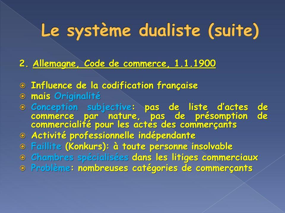 Le système dualiste (suite)