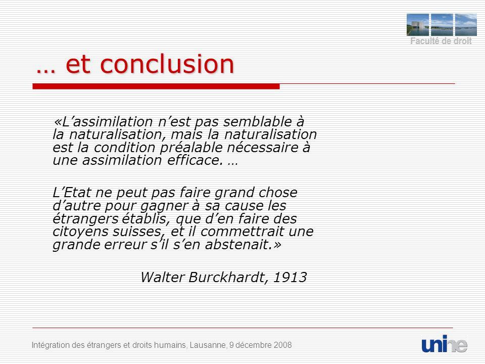 … et conclusion