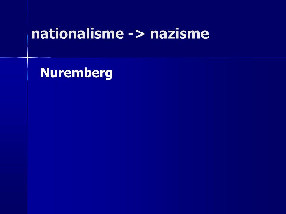 nationalisme -> nazisme