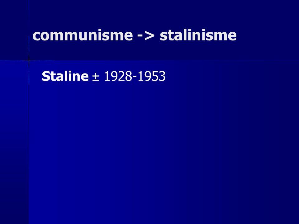 communisme -> stalinisme