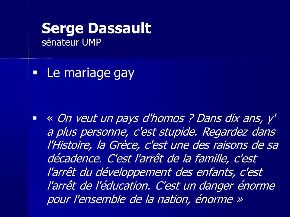 Serge Dassault sénateur UMP