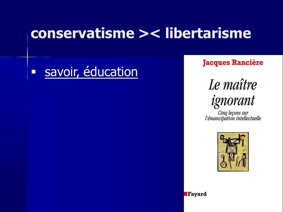 conservatisme >< libertarisme