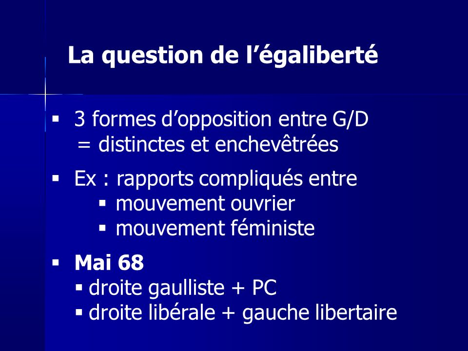 La question de l'égaliberté