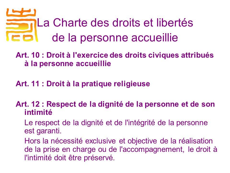 La Charte des droits et libertés de la personne accueillie