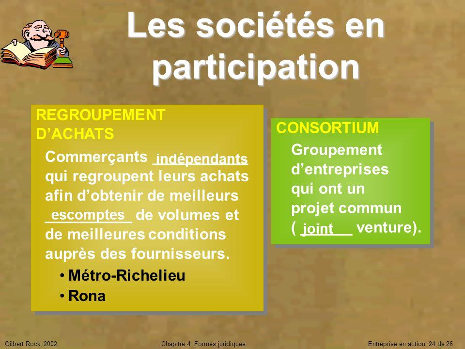 Les sociétés en participation