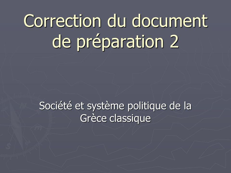 Correction du document de préparation 2