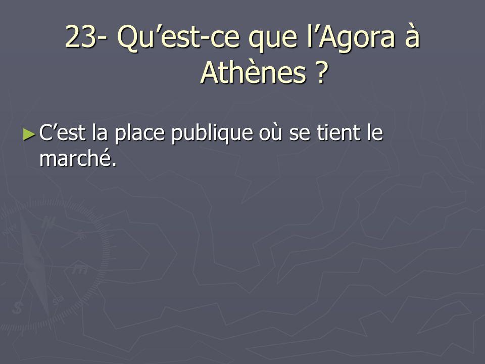 23- Qu'est-ce que l'Agora à Athènes