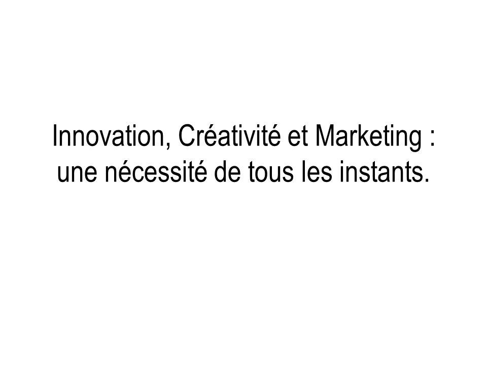 Innovation, Créativité et Marketing : une nécessité de tous les instants.