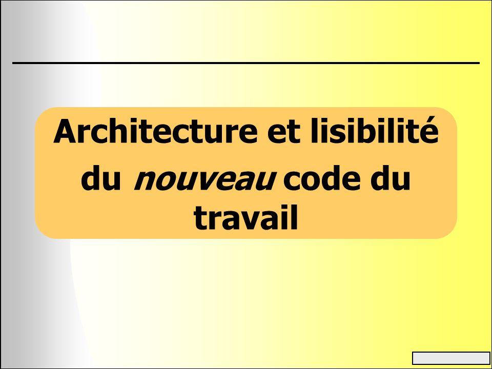 Architecture et lisibilité du nouveau code du travail