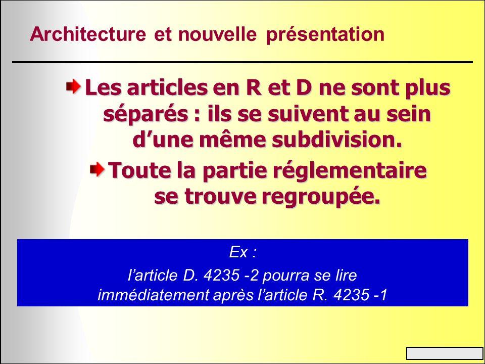 Architecture et nouvelle présentation