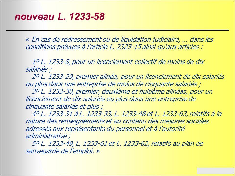 nouveau L. 1233-58