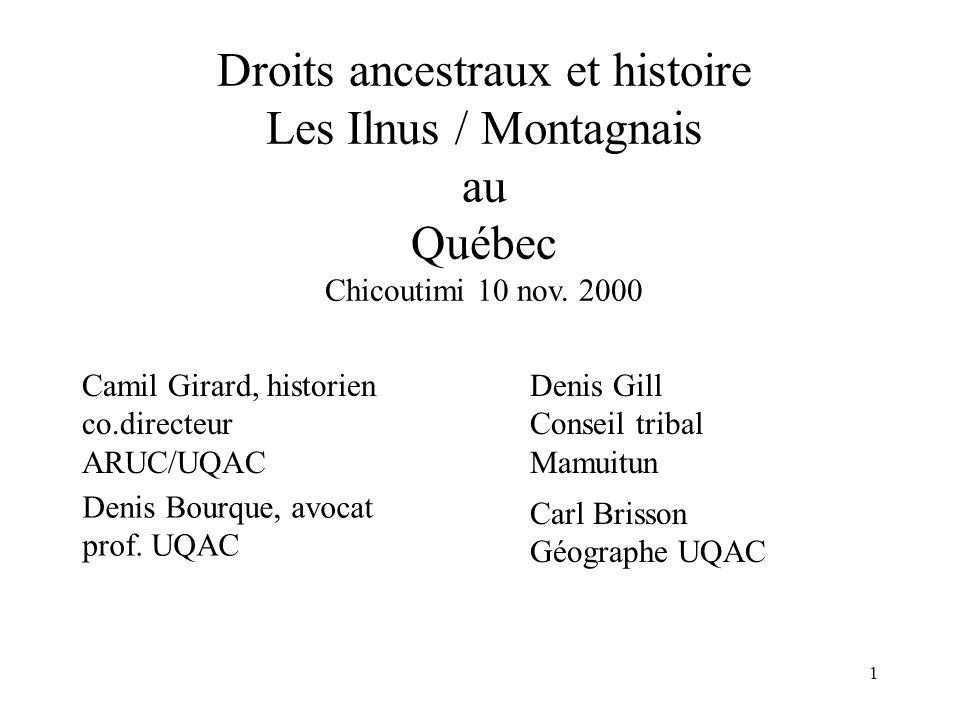Droits ancestraux et histoire