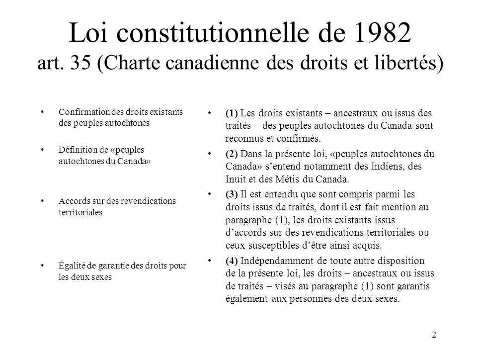 Loi constitutionnelle de 1982 art