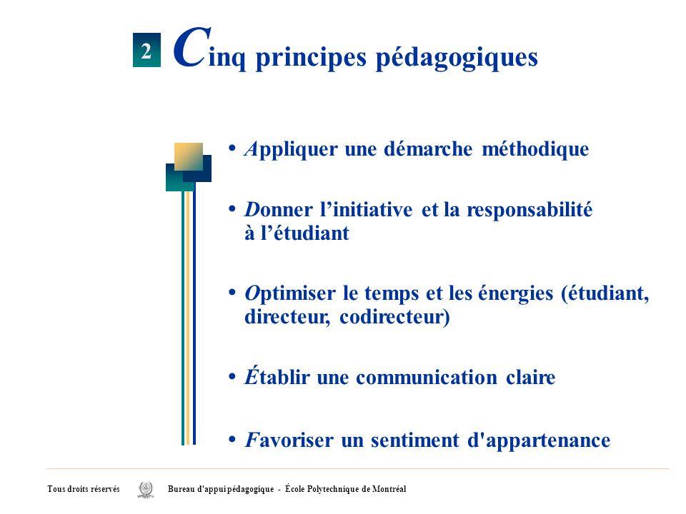 Cinq principes pédagogiques