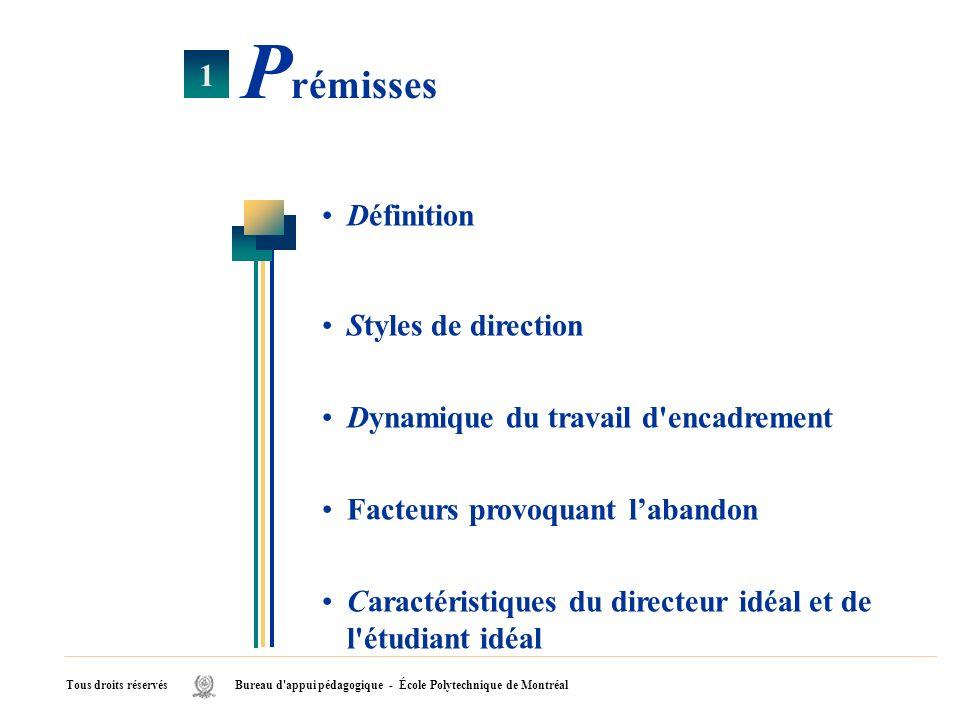Prémisses 1 Définition Styles de direction